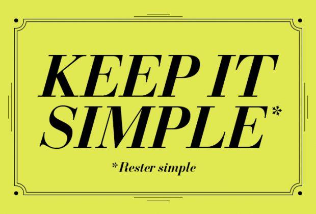 panneau simplicité